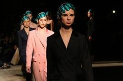 40η ουκρανική εβδομάδα μόδας σε Kyiv, Ουκρανία Στοκ Εικόνες