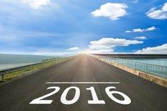 2016 - Η οδική επιφάνεια αρχίζει στη χριστιανική εποχή Στοκ φωτογραφία με δικαίωμα ελεύθερης χρήσης