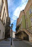 Η οδός της Πράγας Στοκ φωτογραφίες με δικαίωμα ελεύθερης χρήσης