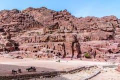 ` Η οδός των προσόψεων ` αρχαίο στο sity της Petra, Ιορδανία Στοκ φωτογραφία με δικαίωμα ελεύθερης χρήσης