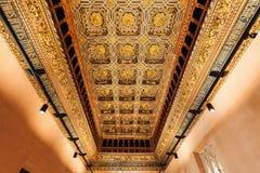 η 11ο 20ό χτισμένη δυναστεία αιώνα αιώνων τροποποιήσεων aljaferia banu που ακολουθεί το ενισχυμένο στεγασμένο hud ισλαμικό παλάτι Στοκ Φωτογραφία