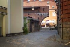 Η πάροδος στην παλαιά πόλη Στοκ Φωτογραφία