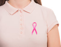 η πάλη θεραπείας καρκίνου του μαστού βρίσκει το ταχυδρομικό γραμματόσημο κεφαλαίων Στοκ φωτογραφία με δικαίωμα ελεύθερης χρήσης