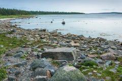 Η πέτρα διαπραγμάτευσης στα νησιά Solovetsky Στοκ φωτογραφία με δικαίωμα ελεύθερης χρήσης