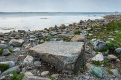Η πέτρα διαπραγμάτευσης στα νησιά Solovetsky Στοκ Φωτογραφία