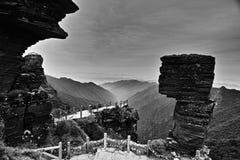 Η πέτρα μανιταριών του βουνού Fanjing στοκ εικόνες
