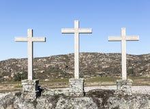 Η πέτρα τρία έκανε τους σταυρούς σε Castelo Bom Στοκ εικόνες με δικαίωμα ελεύθερης χρήσης
