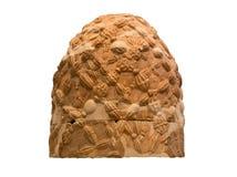 Η πέτρα Omphalos από τους Δελφούς, που απομονώνεται Ελλάδα Στοκ Εικόνες