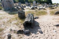 Η πέτρινη έρημος (kamani Pobiti) κοντά στη Βάρνα, Βουλγαρία Στοκ φωτογραφία με δικαίωμα ελεύθερης χρήσης
