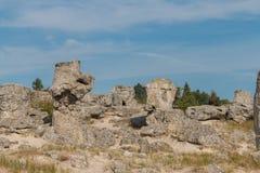 Η πέτρινη έρημος (kamani Pobiti) κοντά στη Βάρνα, Βουλγαρία Στοκ Εικόνες