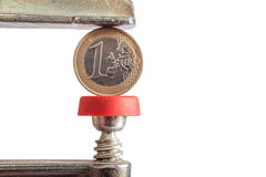 Η πίεση του ευρώ Στοκ φωτογραφία με δικαίωμα ελεύθερης χρήσης
