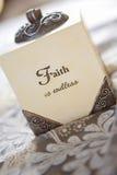 Η πίστη είναι ατελείωτη Στοκ φωτογραφία με δικαίωμα ελεύθερης χρήσης