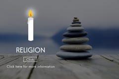 Η πίστη θρησκείας θεωρεί η πνευματικότητα ελπίδας ότι Θεών προσεύχεται την έννοια στοκ φωτογραφίες με δικαίωμα ελεύθερης χρήσης