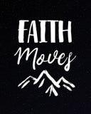 Η πίστη κινεί την τυπωμένη ύλη βουνών Ελεύθερη απεικόνιση δικαιώματος