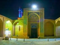 Η πίσω είσοδος σε Jameh masjed-ε σε Yazd Στοκ Εικόνα