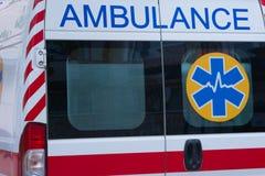 Η πίσω πόρτα του ασθενοφόρου Στοκ φωτογραφία με δικαίωμα ελεύθερης χρήσης