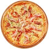 Η πίτσα με το μπέϊκον και στοκ εικόνα με δικαίωμα ελεύθερης χρήσης