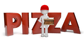 Η πίτσα παραδίδει Στοκ Φωτογραφία