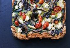 Η πίτσα τροφίμων ξεφυτρώνει tomate πίτα εύγευστο στοκ εικόνες