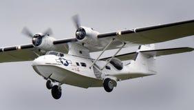 Η παγιωμένη Catalina PBY στον αέρα Scampton παρουσιάζει στις 10 Σεπτεμβρίου 2017 Ενεργός βάση Βασιλικής Αεροπορίας Λινκολνσάιρ Στοκ εικόνα με δικαίωμα ελεύθερης χρήσης