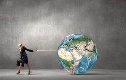 η παγκοσμιοποίηση έννοιας απομόνωσε το λευκό Στοκ εικόνα με δικαίωμα ελεύθερης χρήσης