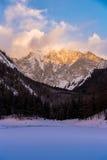 Η παγωμένη λίμνη Gruner βλέπει την Αυστρία Στοκ εικόνες με δικαίωμα ελεύθερης χρήσης