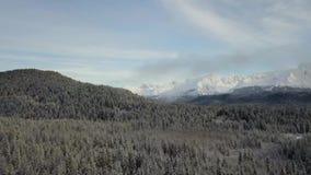 Η παγωμένη αγριότητα των βουνών Chugach απόθεμα βίντεο