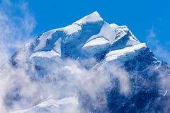 Κορυφή Συνόδων Κορυφής Aoraki της υψηλότερης αιχμής ΑΜ Cook NZ Στοκ φωτογραφία με δικαίωμα ελεύθερης χρήσης