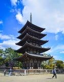 Η παγόδα πέντε-πολυθρυλήτων του ναού Kofukuji στοκ εικόνα με δικαίωμα ελεύθερης χρήσης
