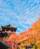 Η παγόδα του kiyomizu-Dera στο Κιότο, Ιαπωνία , Κιότο, Ιαπωνία σε Kiy Στοκ Φωτογραφίες
