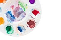 Η παλέτα χρώματος χρησιμοποιούμενη. στοκ εικόνες