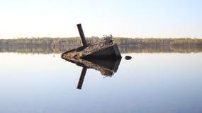 Η παλαιά αποβάθρα καταδύεται Στοκ Εικόνες