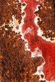 Η παλαιά επιφάνεια μετάλλων χρωμάτισε και που οξύδωσε πελεκημένος στοκ εικόνα με δικαίωμα ελεύθερης χρήσης