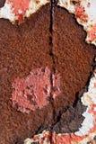 Η παλαιά επιφάνεια μετάλλων χρωμάτισε και που οξύδωσε πελεκημένος στοκ εικόνες