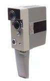 Η παλαιά φωτογραφική μηχανή σε μια άσπρη ανασκόπηση Στοκ Φωτογραφίες