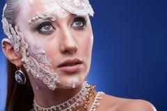 Η πανέμορφη γυναίκα με καλλιτεχνικό δημιουργικό αποτελεί Στοκ φωτογραφίες με δικαίωμα ελεύθερης χρήσης