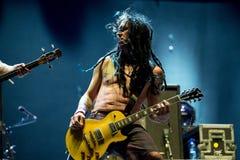 Η πανκ ζώνη μουσικής ροκ Nofx αποδίδει στη συναυλία Download στο φεστιβάλ μουσικής βαρύ μετάλλου Στοκ Εικόνα