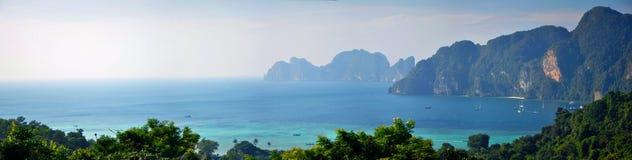 Η πανοραμική άποψη σχετικά με Phi Ko Phi φορά Στοκ φωτογραφίες με δικαίωμα ελεύθερης χρήσης