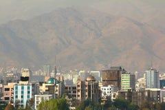 Η πανοραμική άποψη της Τεχεράνης, Ιράν Στοκ εικόνες με δικαίωμα ελεύθερης χρήσης
