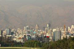 Η πανοραμική άποψη της Τεχεράνης, Ιράν Στοκ Εικόνες
