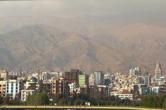 Η πανοραμική άποψη της Τεχεράνης, Ιράν Στοκ φωτογραφία με δικαίωμα ελεύθερης χρήσης