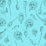 Η παπαρούνα διευθύνει το άνευ ραφής σχέδιο Στοκ Εικόνες