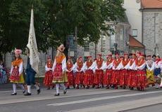 Η παρέλαση του εορτασμού 2011 τραγουδιού και χορού Στοκ Φωτογραφίες