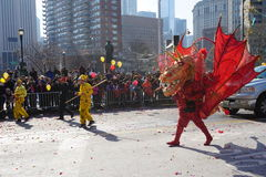 Η παρέλαση 168 έτους του 2015 κινεζική σεληνιακή νέα Στοκ Εικόνες