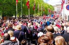 Η παρέλαση στο Όσλο σε 17ο μπορεί Στοκ Εικόνες
