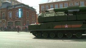 Η παρέλαση του στρατιωτικού εξοπλισμού στη Μόσχα, Ρωσία απόθεμα βίντεο