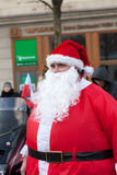 Η παρέλαση των προτάσεων Santa στις μοτοσικλέτες γύρω από το κύριο τετράγωνο αγοράς στην Κρακοβία Στοκ εικόνες με δικαίωμα ελεύθερης χρήσης