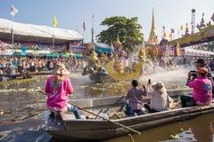 Η παρέλαση φεστιβάλ Bua τσοκ είναι μια παράδοση τοπικών ανθρώπων σε Samutprakan στοκ εικόνες με δικαίωμα ελεύθερης χρήσης