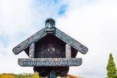 Η παραδοσιακή κατασκευή Maori για την αποθήκευση των προμηθειών, Rotorua, Νέα Ζηλανδία στοκ φωτογραφία