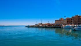 Η παραθεριστική πόλη του λιμένα Anzio - ρωμαϊκό Riviera Στοκ φωτογραφία με δικαίωμα ελεύθερης χρήσης